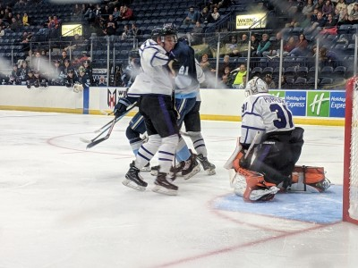 Vincent Purpura gets the start in hus first home game since being traded to the Phantoms
