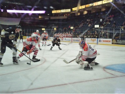 Dominic Basse stops 20 of 22 in his first start in Youngstown as the Phantoms beat the Lumberjacks 4-2